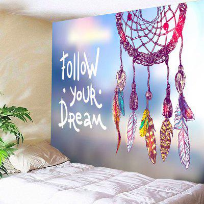 Buy COLORMIX Dreamcatcher Letter Print Wall Art Tapestry for $17.23 in GearBest store