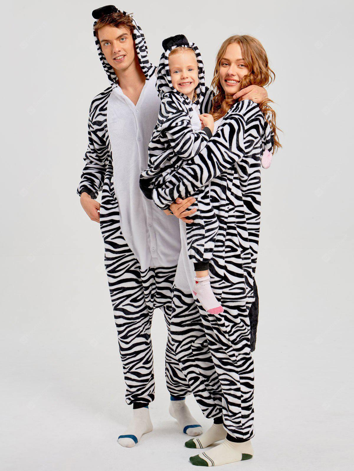 Family Christmas Zebra Animal Onesie Pajama ZEBRA STRIPE