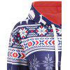 Christmas Plus Size Hoodie with Pockets - BLUE