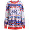 Plus Size Christmas Graphic Sweatshirt - BLUE