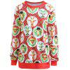 Plus Size Christmas Graphic Sweatshirt - RED