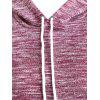 Plus Size Heather Hoodie - WINE RED