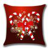 Christmas Candies Canes Pattern Throw Pillow Case - DEEP RED