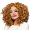 Medium Side Bang Fluffy Afro Kinky Curly Synthetic Wig - GOLDEN