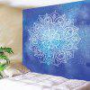 Mandala Flower Print Wall Decor Tapestry - BLUE