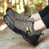 Mesh Panel Outdoor Casual Sports Shoes - GREEN