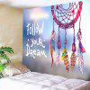 Dreamcatcher Letter Print Wall Art Tapestry - COLORMIX