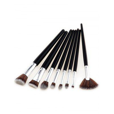8Pcs Beauty Multipurpose Two Tone Hair Makeup Brushes