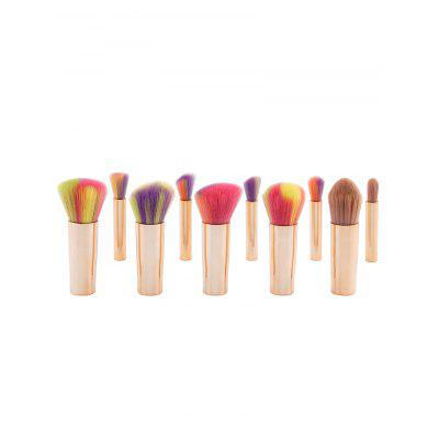 10Pcs Ombre Multipurpose Detachable Makeup Brushes Set