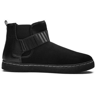 Buy BLACK 44 Hook and Loop Faux Suede Ankle Boots for $33.90 in GearBest store