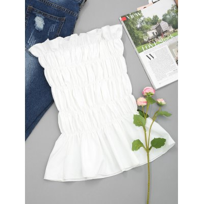 Ruffles Smocked Tube Top
