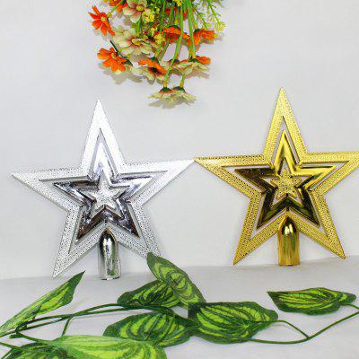 2 pcs star shape christmas tree toppers - Christmas Tree Topper Star