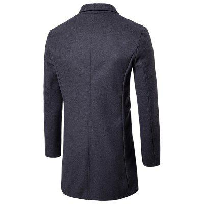 Two Button Shawl Collar Wool Blend CoatMens Jackets &amp; Coats<br>Two Button Shawl Collar Wool Blend Coat<br><br>Clothes Type: Wool &amp; Blends<br>Collar: Turn-down Collar<br>Material: Cotton, Polyester, Wool<br>Package Contents: 1 x Coat<br>Season: Fall, Winter<br>Shirt Length: Long<br>Sleeve Length: Long Sleeves<br>Style: Casual<br>Weight: 1.0200kg