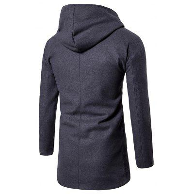 Drop Shoulder Snap Button Hooded Wool Blend CoatMens Jackets &amp; Coats<br>Drop Shoulder Snap Button Hooded Wool Blend Coat<br><br>Clothes Type: Wool &amp; Blends<br>Collar: Hooded<br>Material: Cotton, Polyester, Wool<br>Package Contents: 1 x Coat<br>Season: Fall, Winter<br>Shirt Length: Long<br>Sleeve Length: Long Sleeves<br>Style: Casual<br>Weight: 1.0100kg