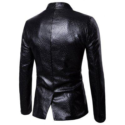 Net Pattern One Button Faux Leather BlazerMens Blazers<br>Net Pattern One Button Faux Leather Blazer<br><br>Closure Type: Single Breasted<br>Material: Faux Leather, Polyester<br>Package Contents: 1 x Blazer<br>Shirt Length: Regular<br>Sleeve Length: Long Sleeves<br>Weight: 0.8000kg