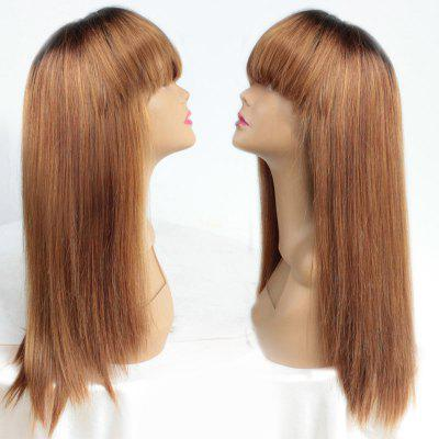 Long Full Bang Ombre Straight Heat Resistant Synthetic Wig
