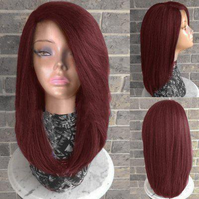 Long Side Parting Straight Heat Resistant Synthetic Wig