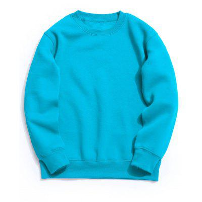 Buy Crew Neck Fleece Mens Sweatshirt LAKE BLUE XL for $34.64 in GearBest store