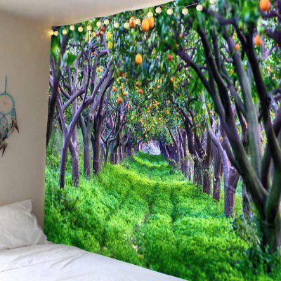Fruit-bearing Forest Printed Wall Art Tapestry