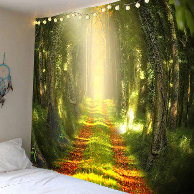 Sunshine Forest Trail Printed Wall Hanging Tapestry