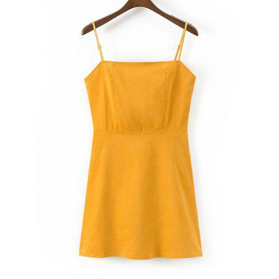 Corduroy Back Zip Slip Mini Dress