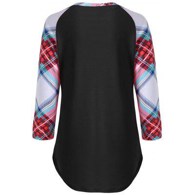Plaid Pocket Baseball T-shirtTees<br>Plaid Pocket Baseball T-shirt<br><br>Collar: Round Neck<br>Material: Polyester, Spandex<br>Package Contents: 1 x T-shirt<br>Pattern Type: Plaid<br>Season: Fall, Spring<br>Shirt Length: Regular<br>Sleeve Length: Three Quarter<br>Style: Fashion<br>Weight: 0.2700kg