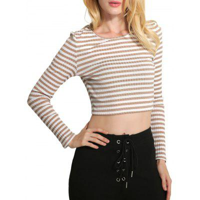 Striped Crop Knitwear