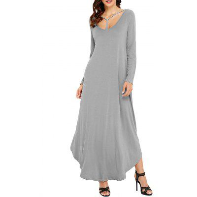 Long Sleeve Scoop Neck Ankle Length DressWomens Dresses<br>Long Sleeve Scoop Neck Ankle Length Dress<br><br>Dresses Length: Ankle-Length<br>Material: Polyester, Spandex<br>Neckline: Scoop Neck<br>Occasion: Casual<br>Package Contents: 1 x Dress<br>Pattern Type: Solid Color<br>Season: Fall, Spring, Winter<br>Silhouette: A-Line<br>Sleeve Length: Long Sleeves<br>Style: Casual<br>Weight: 0.5500kg<br>With Belt: No
