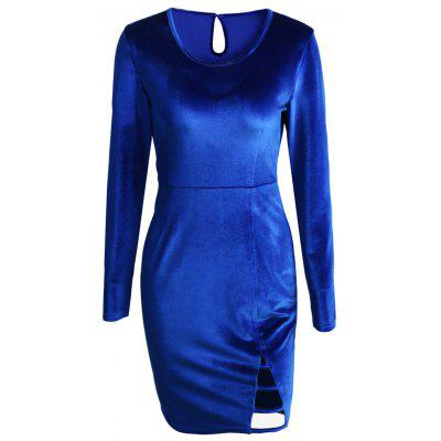 Фото Cut Out Velvet Mini Bodycon Dress. Купить в РФ