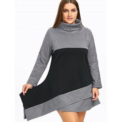 Plus Size Color Block Asymmetric Turtleneck DressPlus Size Dresses<br>Plus Size Color Block Asymmetric Turtleneck Dress<br><br>Dresses Length: Mini<br>Embellishment: Panel<br>Material: Cotton Blend, Polyester<br>Neckline: Turtleneck<br>Package Contents: 1 x Dress<br>Pattern Type: Others<br>Season: Fall, Winter<br>Silhouette: A-Line<br>Sleeve Length: Long Sleeves<br>Style: Casual<br>Weight: 0.7800kg<br>With Belt: No