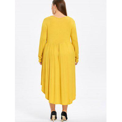Фото Plus Size Midi High Low Swing Dress. Купить в РФ
