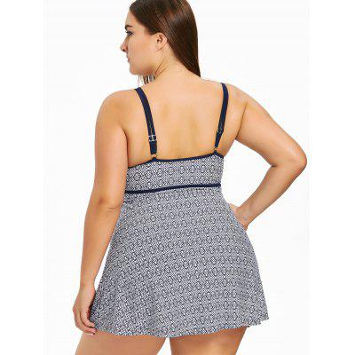Фото Plus Size Print Skirted Underwire Swimsuit. Купить в РФ