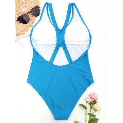 Cut Out Back One Piece SwimsuitLingerie &amp; Shapewear<br>Cut Out Back One Piece Swimsuit<br><br>Bra Style: Padded<br>Elasticity: Elastic<br>Embellishment: Hollow Out<br>Gender: For Women<br>Material: Nylon, Spandex<br>Neckline: V-Neck<br>Package Contents: 1 x Swimsuit<br>Pattern Type: Solid Color<br>Support Type: Wire Free<br>Swimwear Type: One Piece<br>Waist: Natural<br>Weight: 0.2000kg
