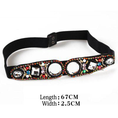 Vintage Rhinestone Inlay Embellished Faux Crystal Elastic Waist BeltBelts<br>Vintage Rhinestone Inlay Embellished Faux Crystal Elastic Waist Belt<br><br>Belt Length: 67CM<br>Belt Material: Polyester<br>Belt Silhouette: Skinny Belt<br>Belt Width: 2.5CM<br>Gender: For Women<br>Group: Adult<br>Package Contents: 1 x Belt<br>Pattern Type: Others<br>Style: Fashion<br>Weight: 0.0590kg