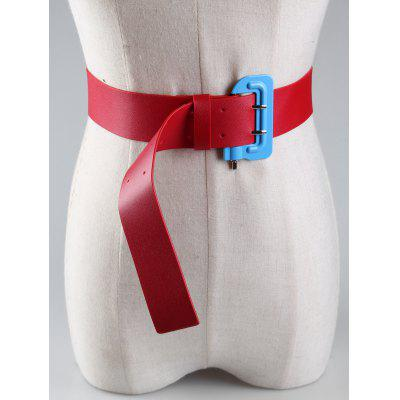 Фото Funny Lock Shape Buckle Embellished Faux Leather Waist Belt. Купить в РФ