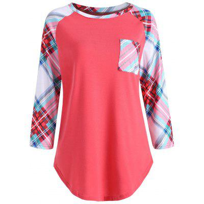 Plaid Pocket Baseball T-shirt