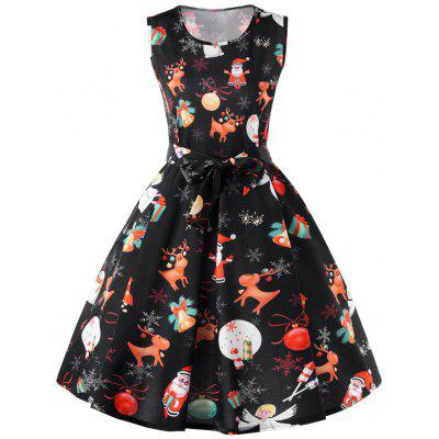 Christmas Reindeer Fit and Flare Dress