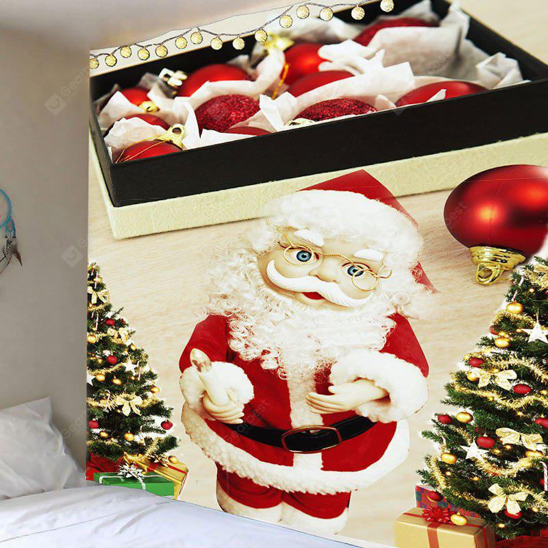 Waterproof Santa Claus and Box Printed Wall Art Tapestry