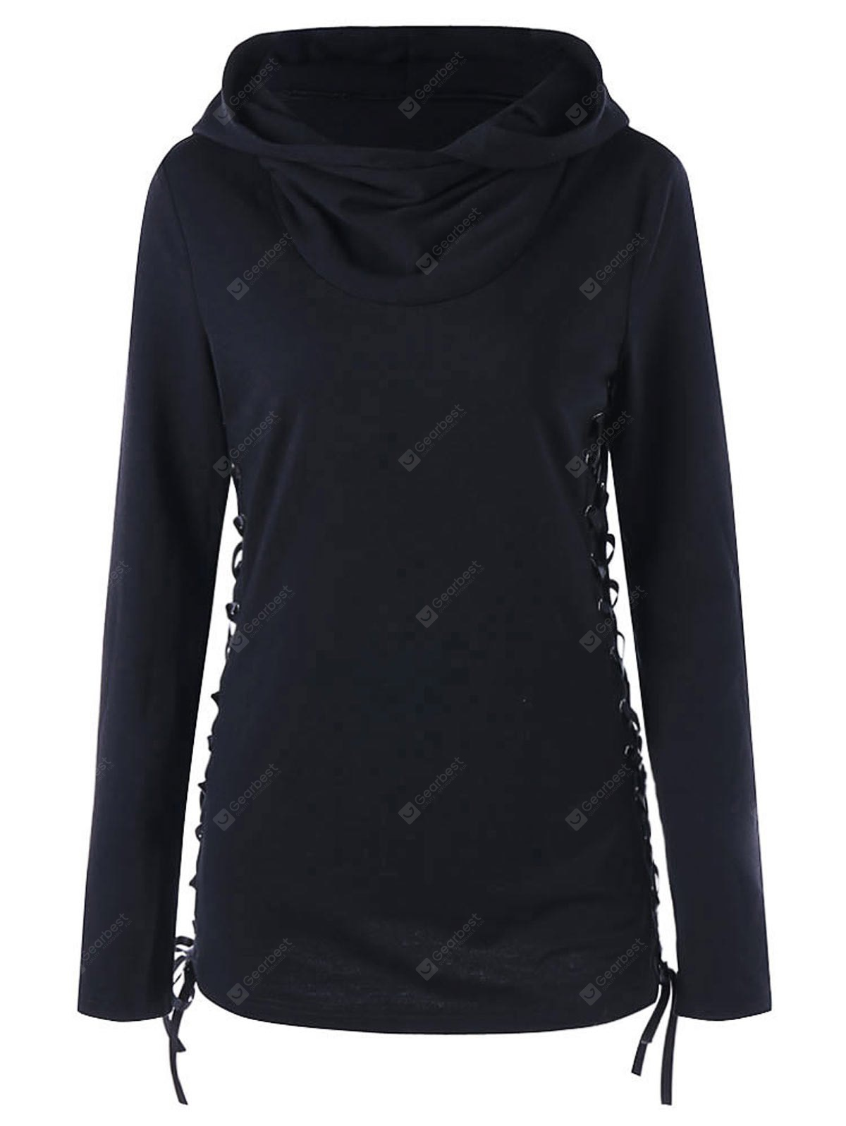 Hoodie with Criss Cross Lace Up