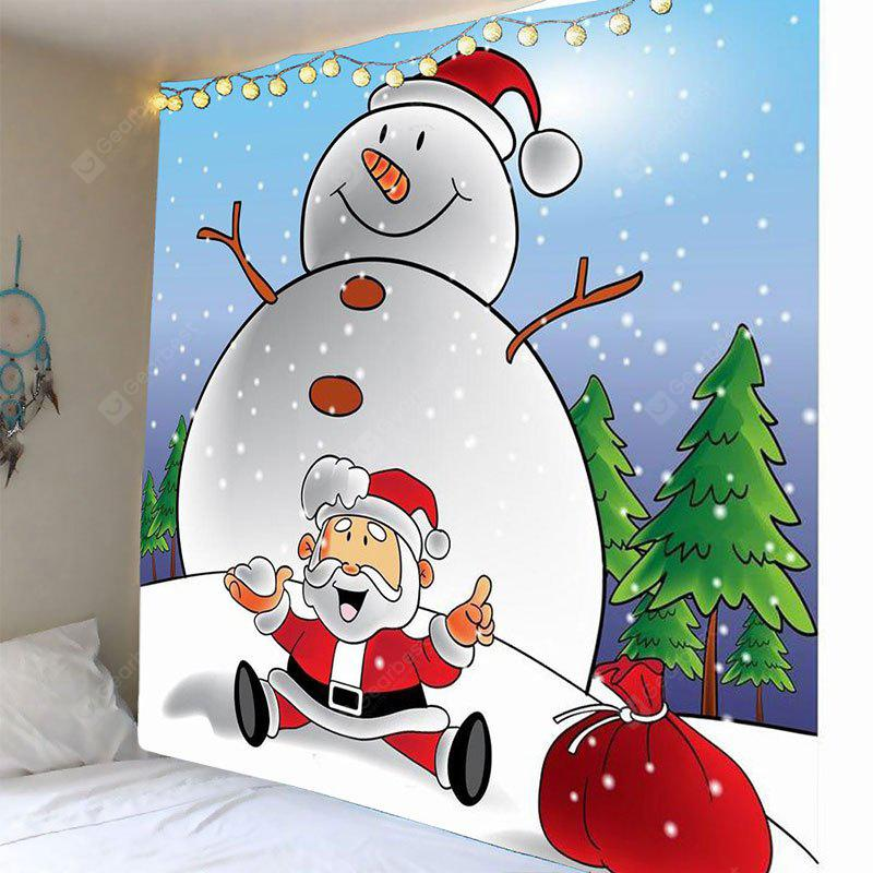 Fat Snowman Printed Wall Art Tapestry