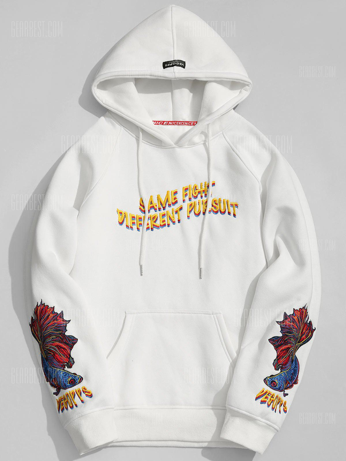 Embroidered Oversize Mens Hoodie
