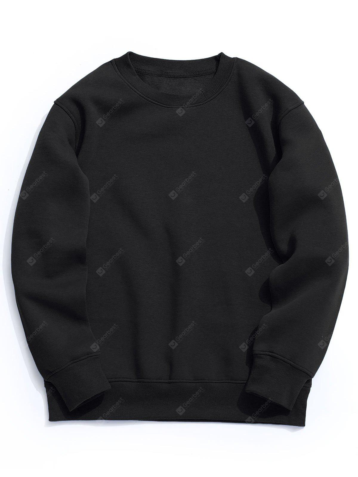 Crew Neck Fleece Mens Sweatshirt
