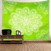 Wall Decor Mandala Flower Print Tapestry - GREEN