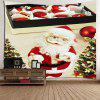 Waterproof Santa Claus and Box Printed Wall Art Tapestry - COLORFUL