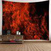 3D Fire Printed Wall Hanging Tapestry - RED