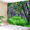 Fruit-bearing Forest Printed Wall Art Tapestry - GREEN