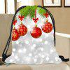 Christmas Baubles Pattern Candy Bag Drawstring Backpack - COLORFUL