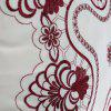 Polyester Embroidered Decorative Throw Pillowcase - DARK RED