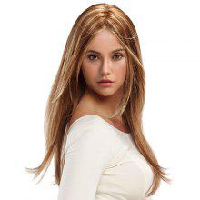 Long Center Parting Straight Colormix Synthetic Wig