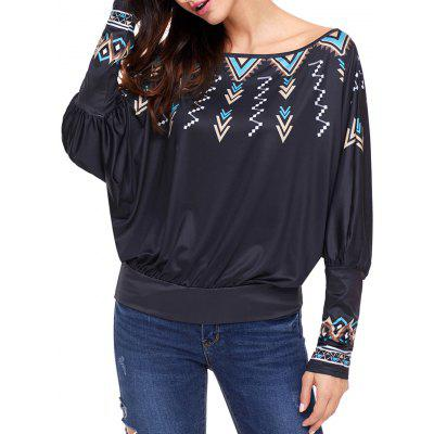 Print Convertible Collar Dolman Sleeve BlouseBlouses<br>Print Convertible Collar Dolman Sleeve Blouse<br><br>Collar: Convertible Collar<br>Material: Polyester, Spandex<br>Package Contents: 1 x Blouse<br>Pattern Type: Print<br>Season: Fall, Spring, Winter<br>Shirt Length: Regular<br>Sleeve Length: Full<br>Sleeve Type: Batwing Sleeve<br>Style: Fashion<br>Weight: 0.3200kg